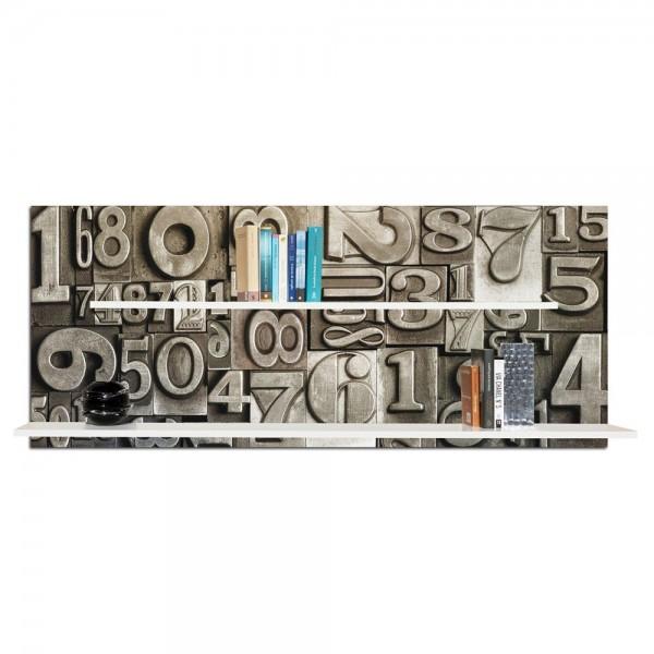 GUTENBERG - Декоративна етажерка за книги, релефна повърхност