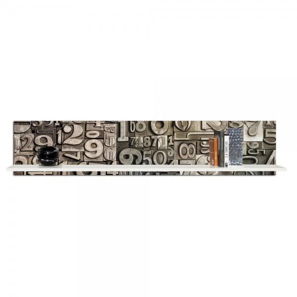 GUTENBERG PICCOLA - Библиотека за стена с релефни елементи