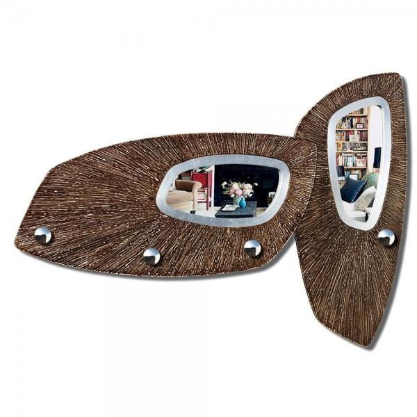 SCUDI - Италианска стенна закачалка за дрехи, с огледало