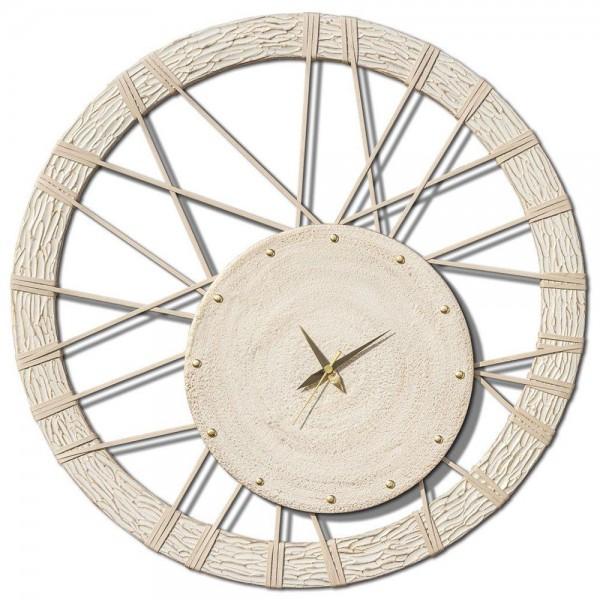 RUEDA - Модерен часовник за стена, декориран ръчно
