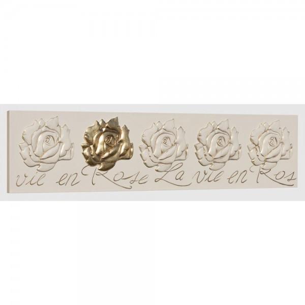P3271 - Елегантно италианско пано за стена с рози, серия LA VIE EN ROSE