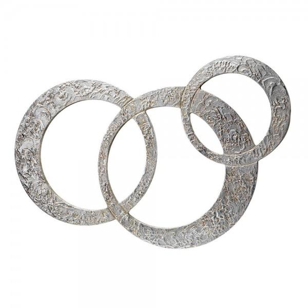 P3698 - Италианско стенно огледало, серия CIRCLES - със сребърен ефект
