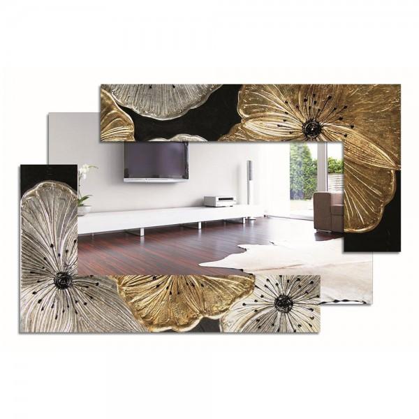 P4016 - Италианско огледало с флорални мотиви. Серия PETUNIA - в сребро и злато