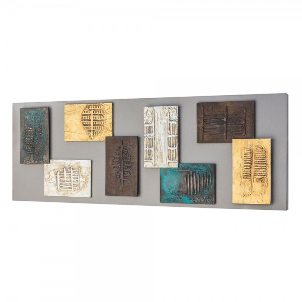 PROMETEO - Пано с релефни орнаменти в бронзово, сребристо и златисто
