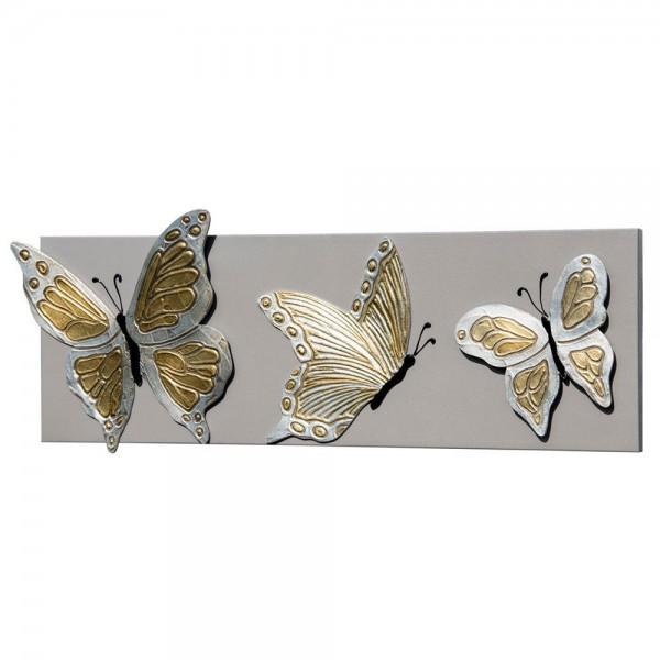 BUTTERFLY DELUX - Италианско пано с релефни орнаменти в златисто и сребристо
