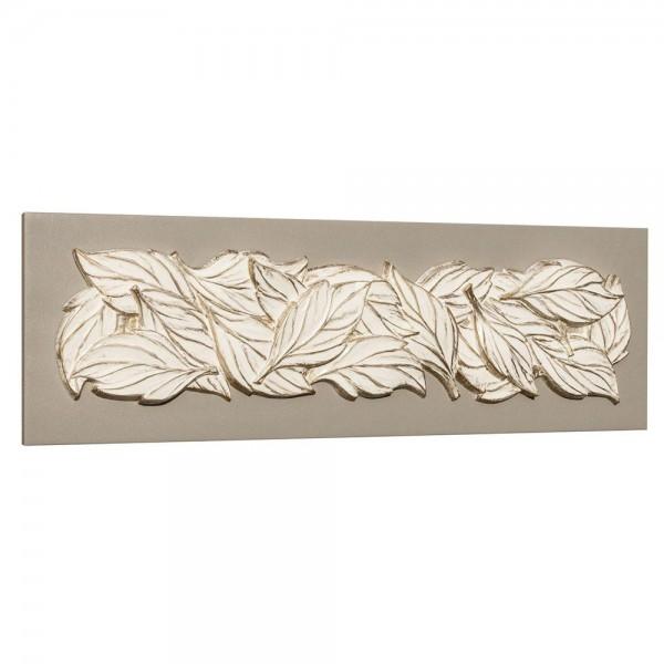 FOGLIE D'ESTATE - Декоративнo панo, с релефни златисти орнаменти
