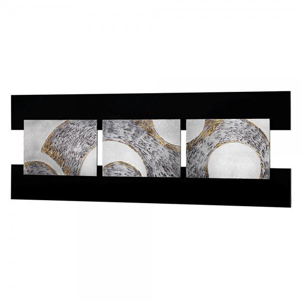 TRIS - Декоративнo панo за стена, със сребрист ефект