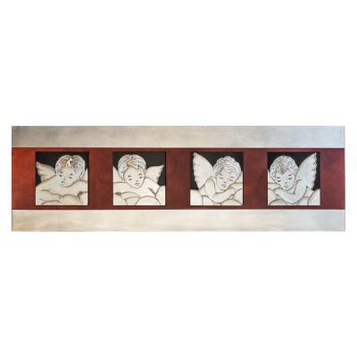 P2910 - Съвременно пано за стена, с изобразени четири ангелчета
