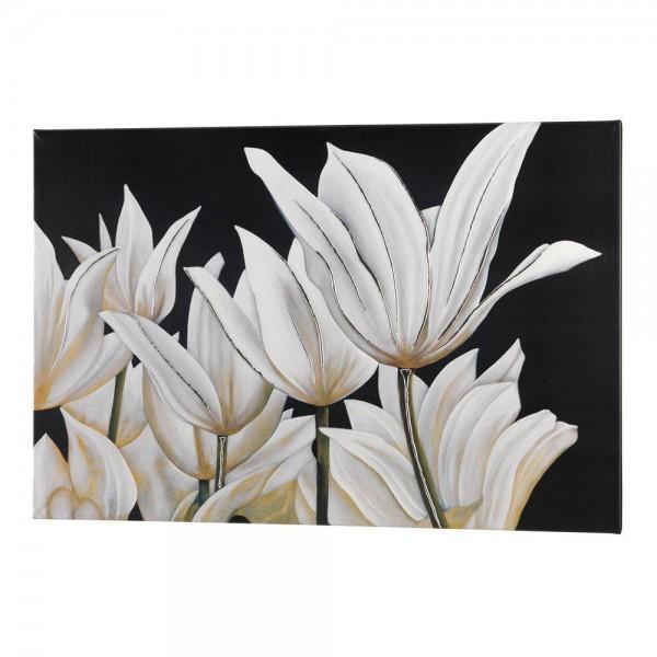 P3062 - Италианско платно за декорация на всекидневна - с флорални мотиви