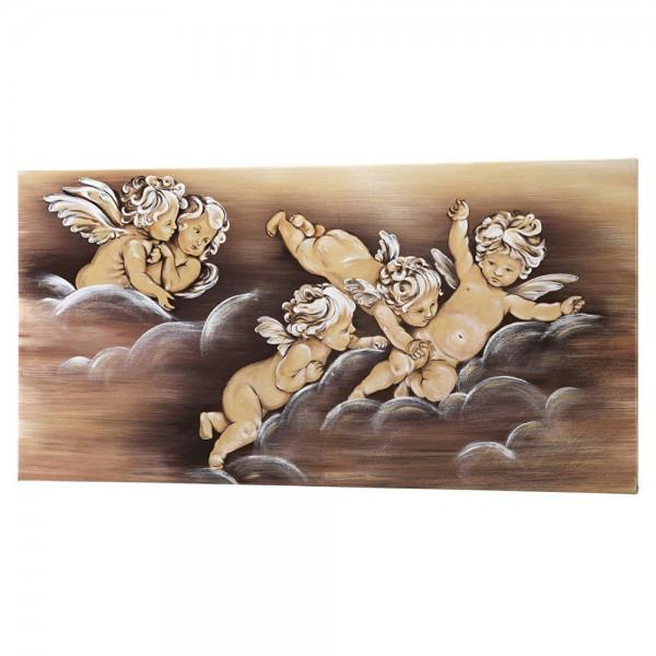 P3148 - Ръчно изработена италианска картина, с тематично изображение - ангели