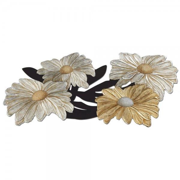 MARGHERITE - Релефно пано със златисти и сребристи орнаменти