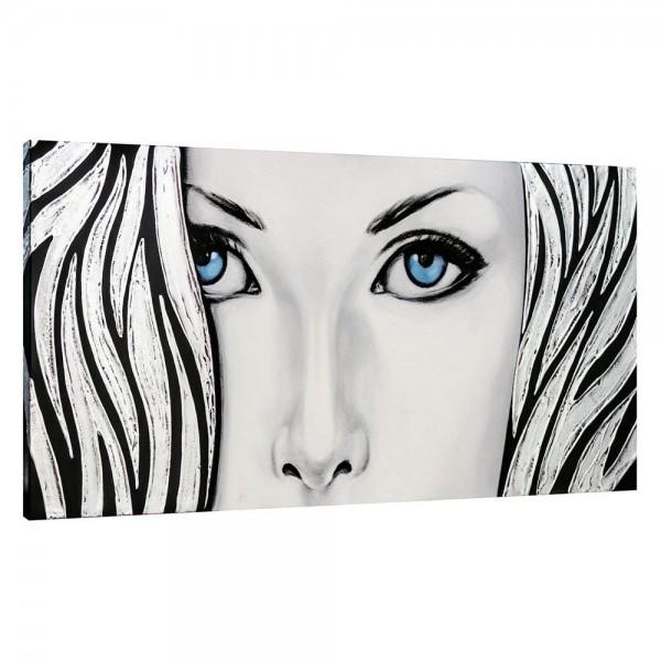 SILVER LADY - Модерно пано за стена с декорация в сребристо