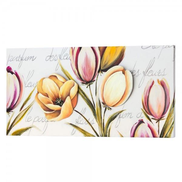 FLOWERS PROVENCE - Панo за стена, с релефни акценти