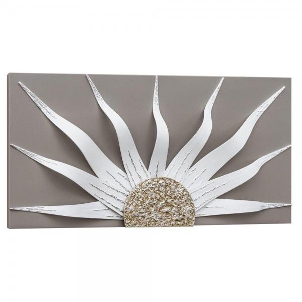 R.P4532 - Пано за стена, за луксозен интериор. Серия SOLAR - сивa основа, орнамент в слонова кост