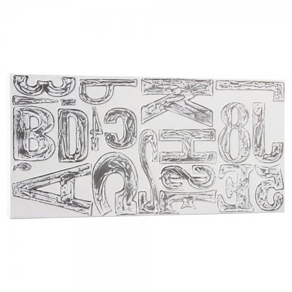 PRINTING - Пано с релефни ръчно декорирани детайли със състарен ефект