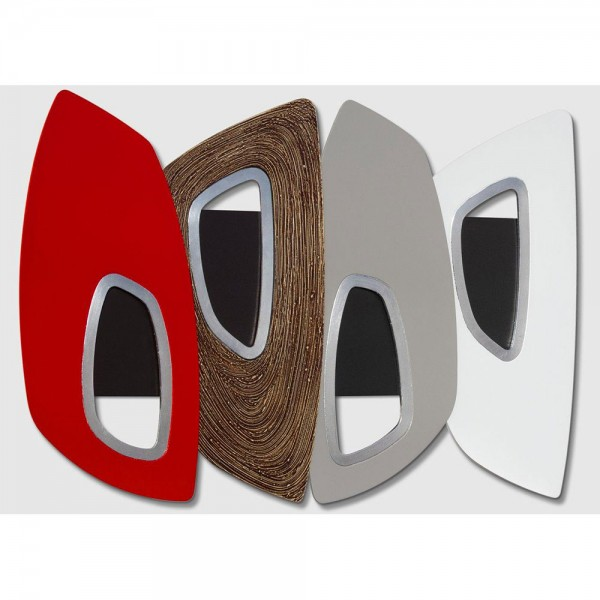 MODERN SHIELD - Дизайнерско пано за стена, сребрист и гланцов ефект