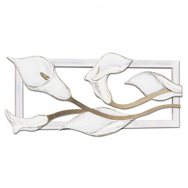 LE CALLE - Ръчно изработено пано с релефни златисти акценти
