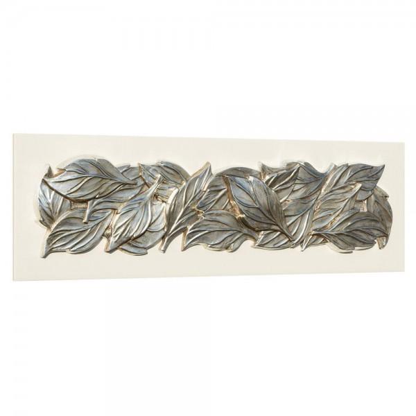 FOGLIE DI PRIMAVERA - Италианско пано с релефни сребристи орнаменти