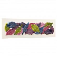 FOGLIE D'AUTUNNO - Италианско пано с релефни орнаменти и гланцов ефект