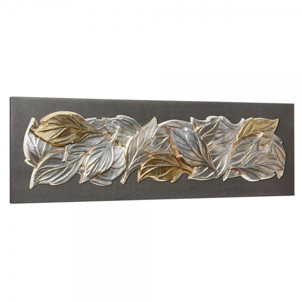 FOGLIE D'INVERNO - Италианско пано с релефни златисти и сребристи орнаменти
