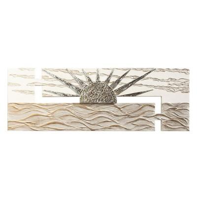 ALBA SUL MARE - Италианско пано с релефни сребристи и златисти орнаменти