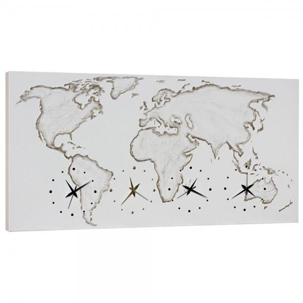 WORLD - Стенен часовник с четири механизма, златисти акценти