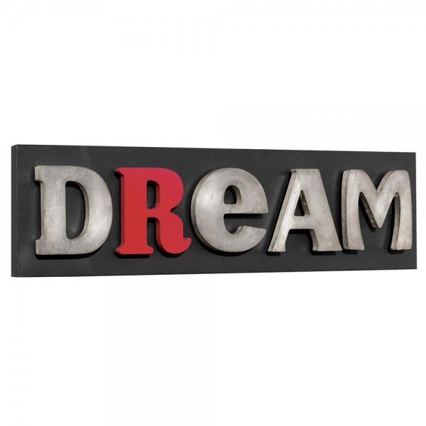 DREAM - Италианско пано с релефни сребристи орнаменти