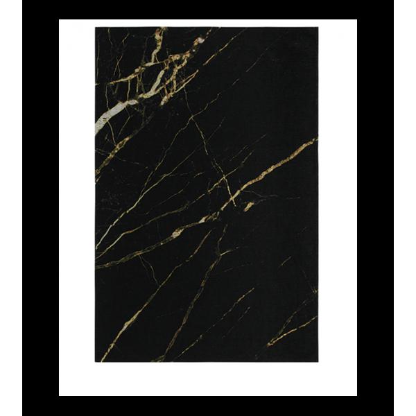 Модерен килим черно и златисто, SICILY MARBRE BLACK/GOLD
