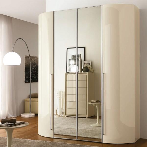 VELA - Модерен италиански гардероб с овални врати и огледала