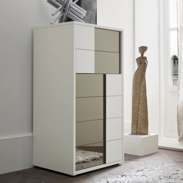 TEBE - Модерен шкаф за спалня с 6 бр чекмеджета