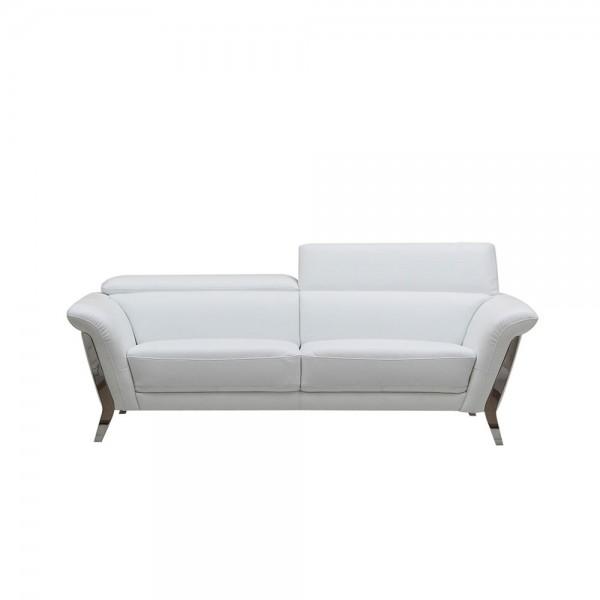 1547 - Модерни бели кожени дивани