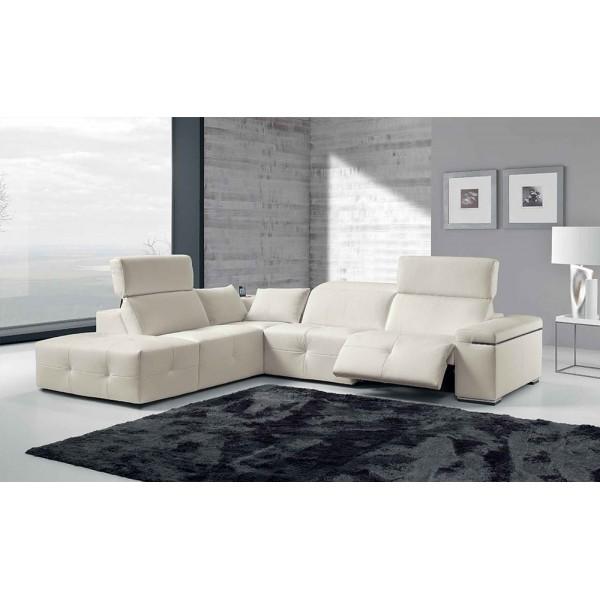 1578 - Модерен италиански ъглов диван с електрически реклайнер