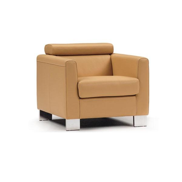 200 - Модерно кресло с оранжева кожа