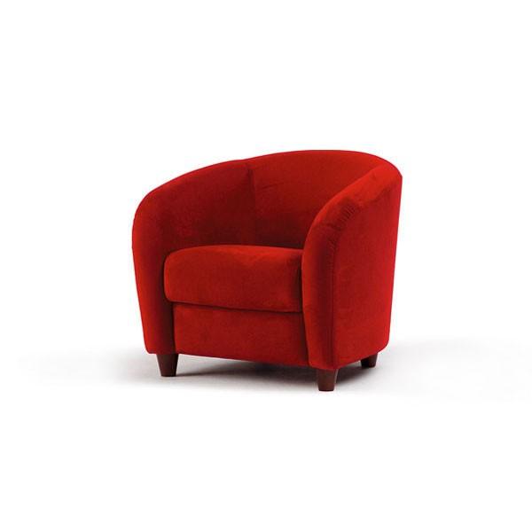 600 - Кресло в съвременен стил с тапицерия от текстил