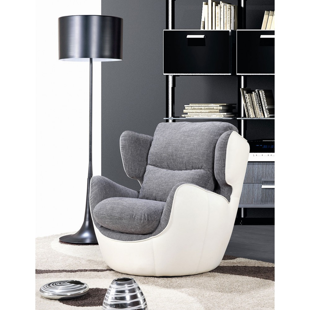 593 - Съвременно кресло с тапицерия от висококачествен текстил