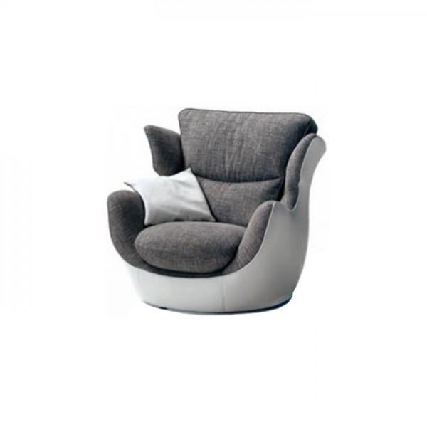 M.593 - Съвременно кресло с тапицерия от висококачествен текстил