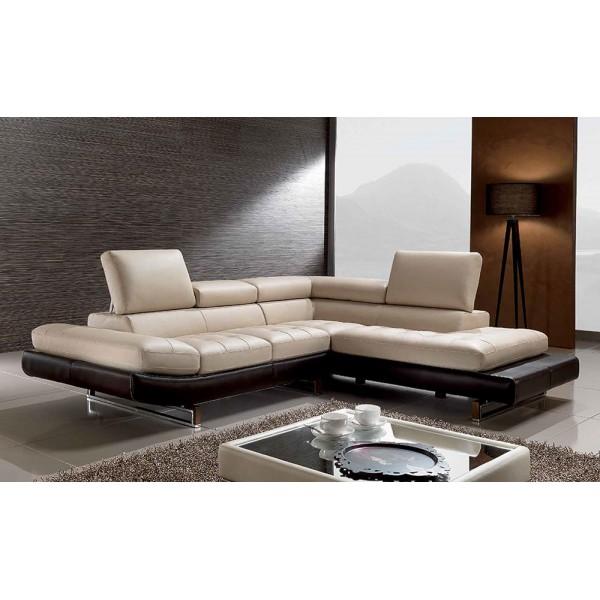 963 - Модерен диван от естествена кожа