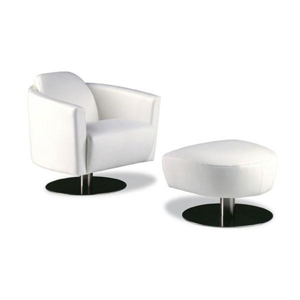 GIGA - Италианско съвременно кресло с табуретка