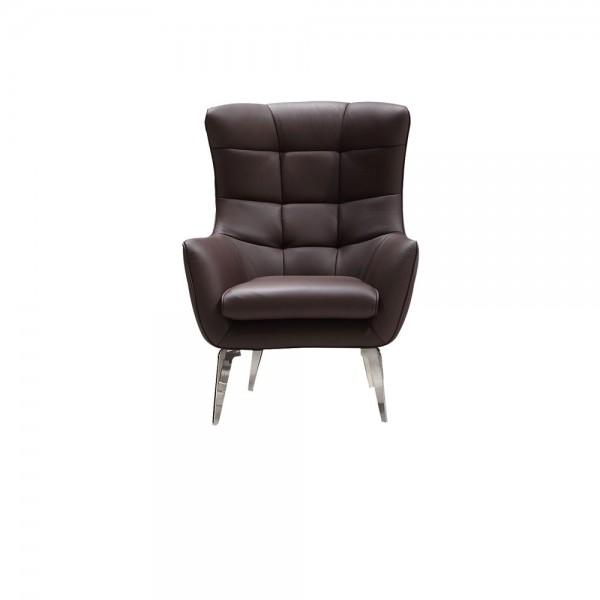 N955 - Модерно кресло с кафява естествена кожа