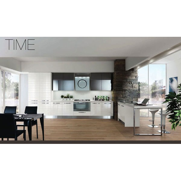 Модел TIME - Бял лак / Стъкло