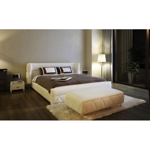 B1310 - Бежова спалня от естествена кожа, модел 'CREMONA'