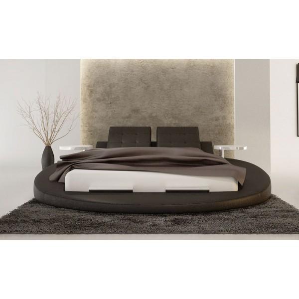 I.S609 - Кожена спалня с кръгла основа, модел 'APRILLA'
