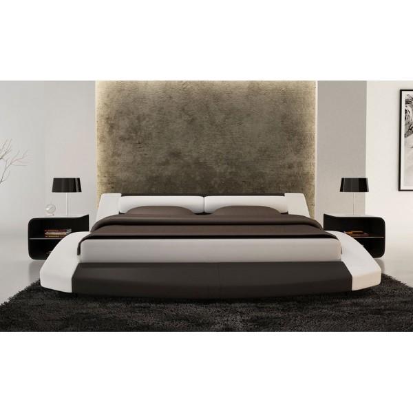 S618 - Модерна спалня в черна и бяла кожа