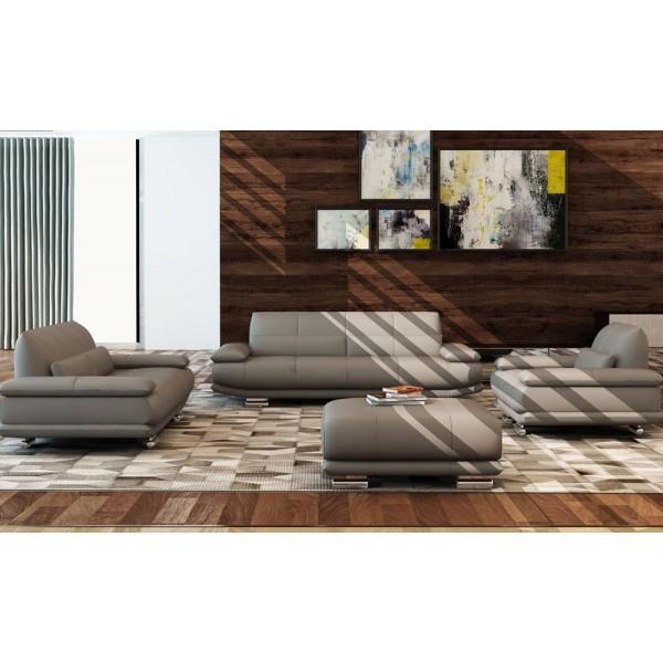 5135 - Модерна кожена мека мебел