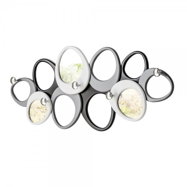 MOLECOLE - Дизайнерска закачалка с огледало, гланцово покритие