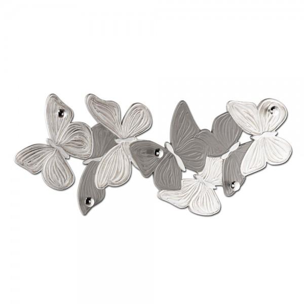 VOLTEGGIO - Стенна закачалка за дрехи, сребристо покритие със сив гланц