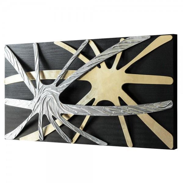 SPIDER - Дизайнерско пано с релефни елементи в сребристо и златисто