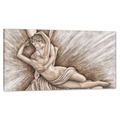 AMORE E PSICHE - Декоративно пано за стена с акценти в сребристо