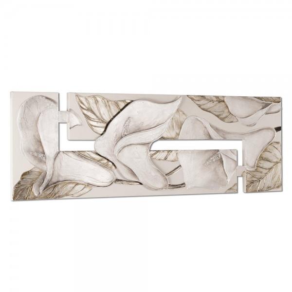 CALLE AL VENTO - Ръчно изработено пано с декорация в сребристо