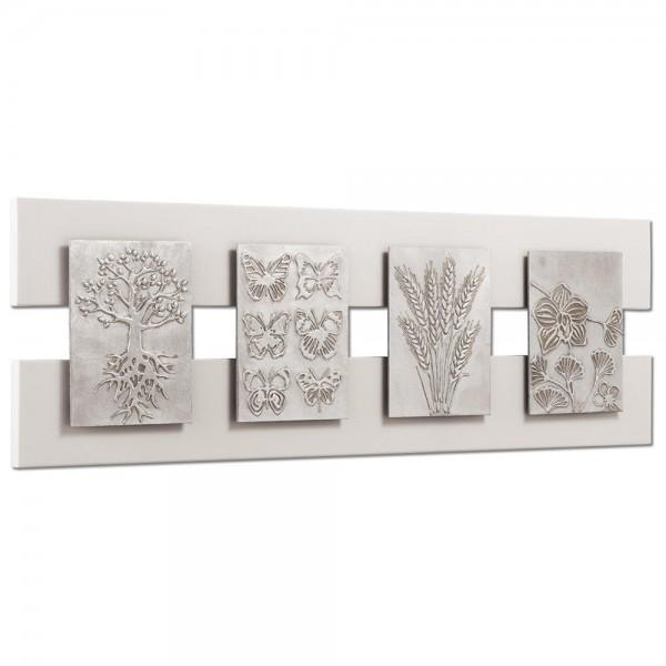 EARTH CREATURES - Пано с ръчно декорирани детайли в сребристо